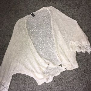 off white see-through cardigan